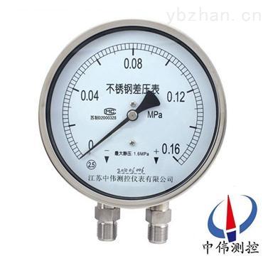 YW-150B-不锈钢差压压力表