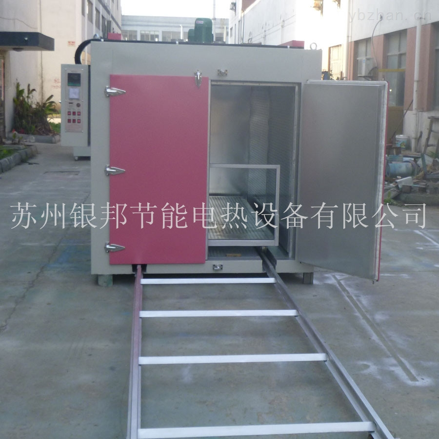 定制型聚氨酯胶辊专用烘箱 聚氨酯制品固化烘箱 轨道台车式烘箱