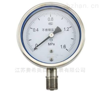 厂家直销YE75/100/150膜盒压力表价格