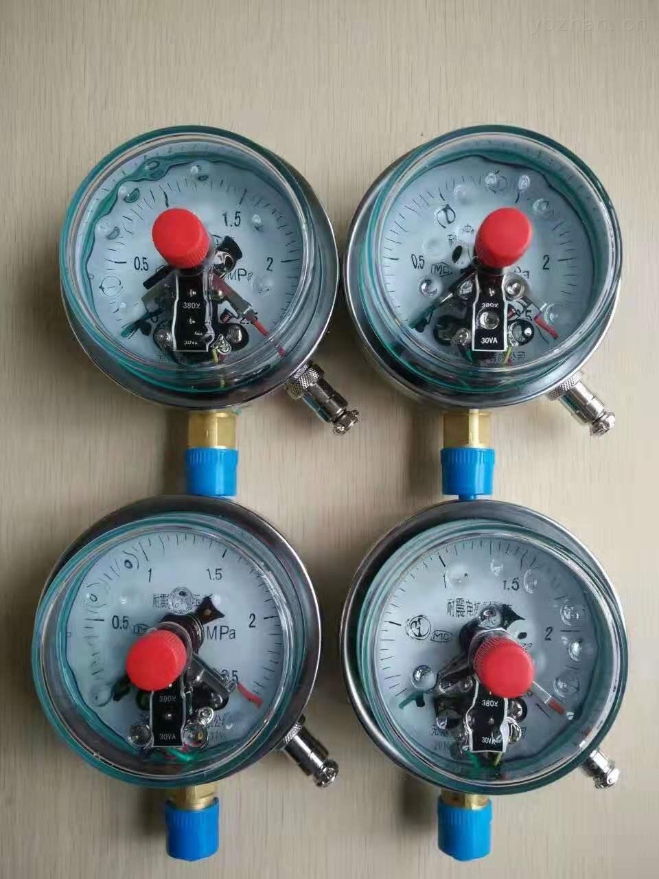 不锈钢耐震充油电接点压力表