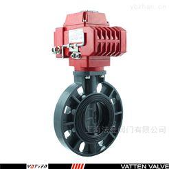 D971电动塑料PVC蝶阀 PVC管道适用蝶阀