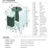 横流式LXRT-300T低噪音方形冷却塔