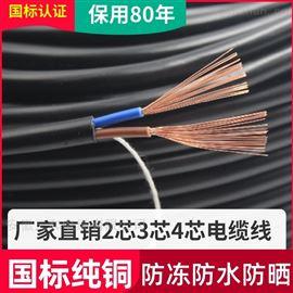 高温电缆ZR-DJFPGP线芯耐温65度载流量22A