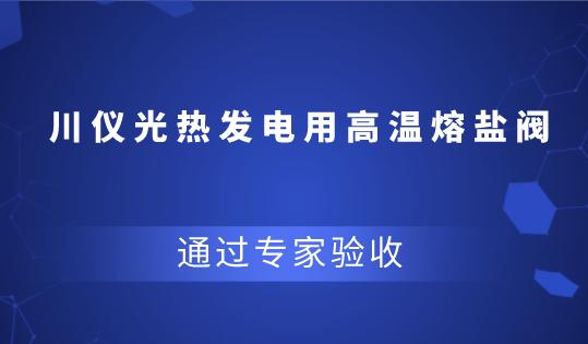 重慶川儀光熱發電用高溫熔鹽閥研制項目通過驗收