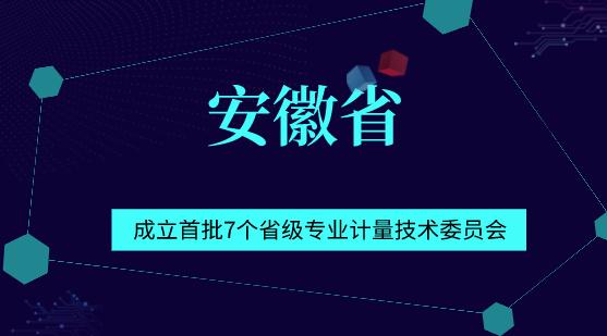 安徽省成立首批7个省级专业计量技术委员会