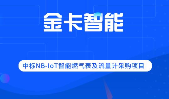 金卡智能中標NB-IoT智能燃氣表及流量計采購項目