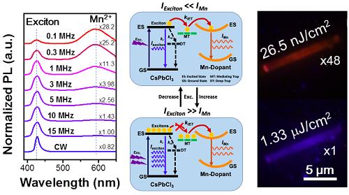 大连化物所发现锰离子掺杂钙钛矿单晶荧光动力学机理