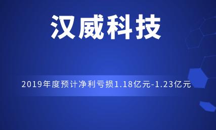 汉威科技2019年度预计净利亏损1.18亿元-1.23亿元